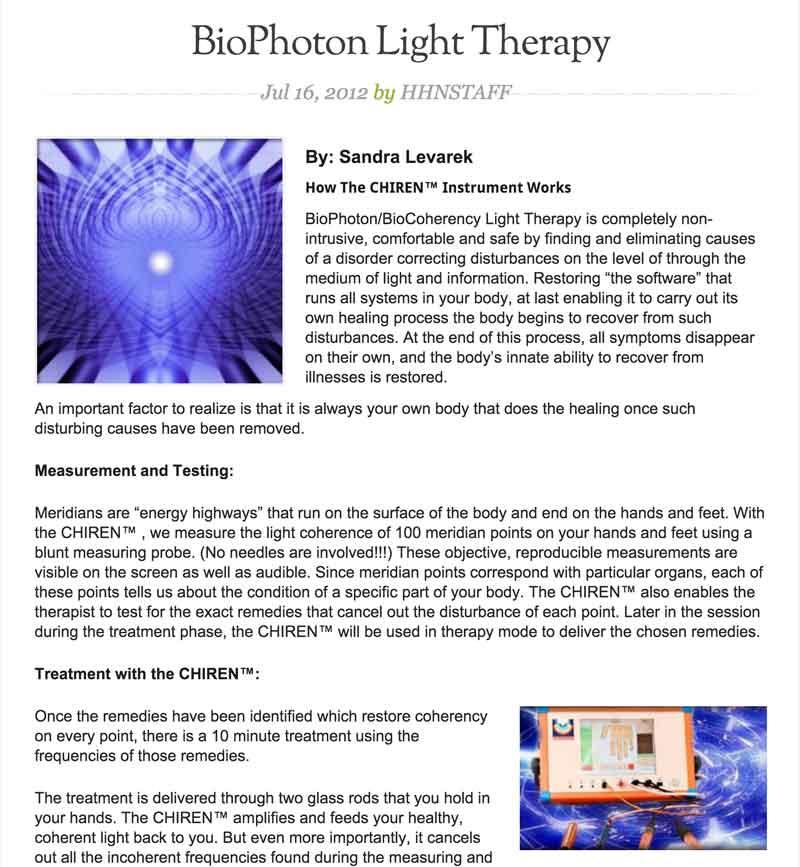 Holistic Healing Article